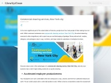 Commercial cleaning services, New York city
