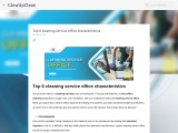 Top 6 cleaning service office characteristics