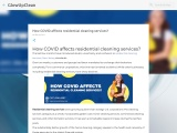 How COVID affects residential cleaning services?