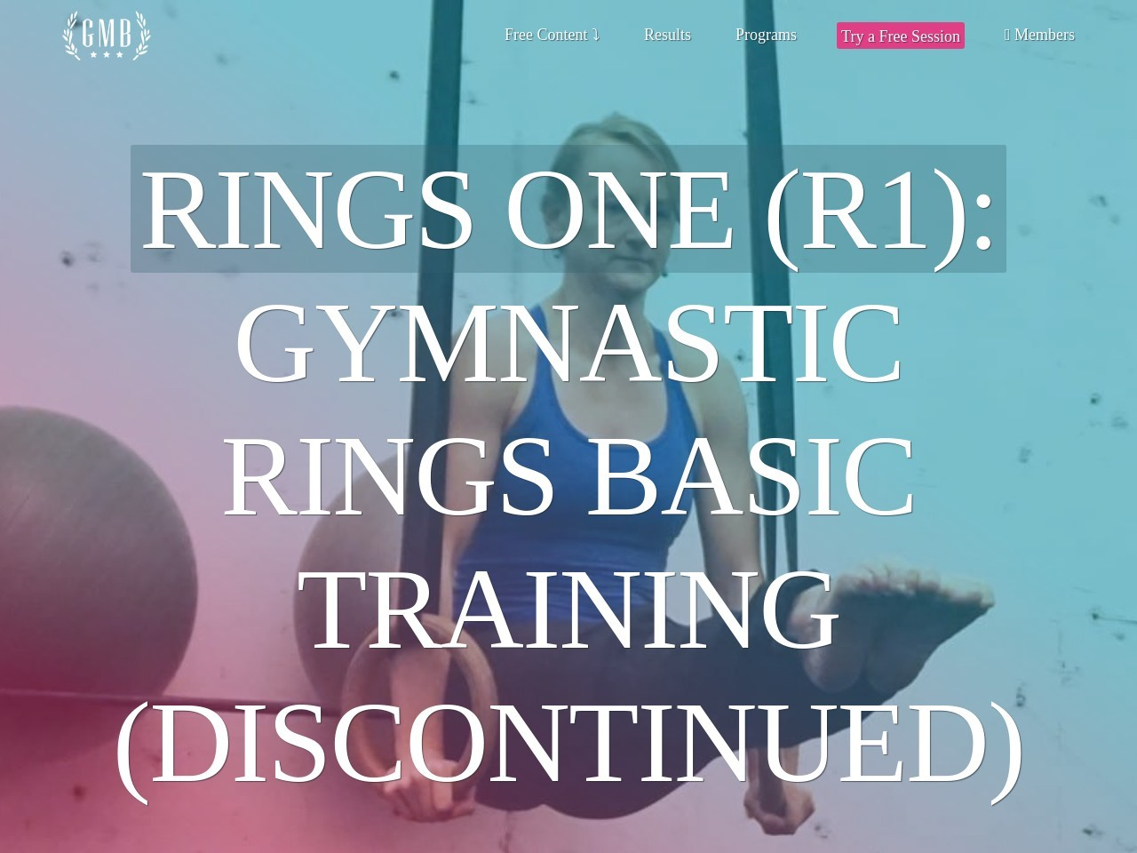 Rings One (r1): Gymnastic Workout Program