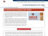 CA Inter Test Series Syllabus | CA Intermediate Test Series