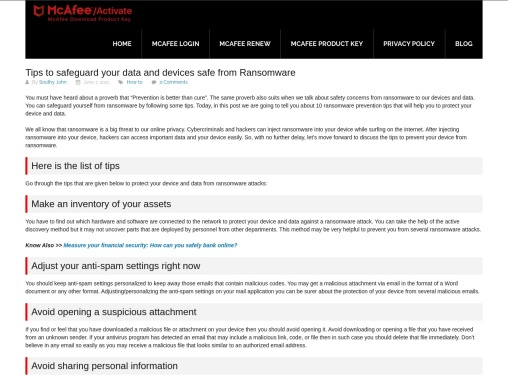Tips to safeguard your data and devices safe from Ransomware
