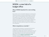 NOIDA ; a new hub of a budget office