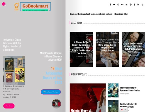 Gobookmart: We give you all updates about latest Books, News about books, Book Reviews, Updates abou