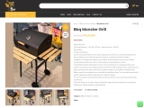 Buy Barbecue Monster Grill – A Large Cooking Space – Go Cart
