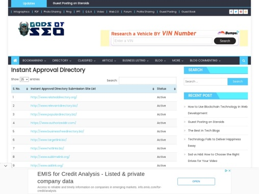 Free Directory Submission Sites List 2021
