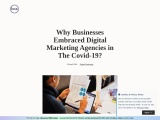 WHY BUSINESSES EMBRACED DIGITAL MARKETING AGENCIES IN THE COVID-19?