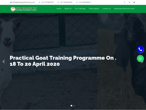 Welcome to Golden Commercial Goat Farming Training Center