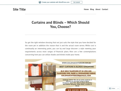 Curtains and Blinds – Which Should You, Choose?