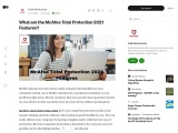 What are the McAfee Total Protection 2021 Features?