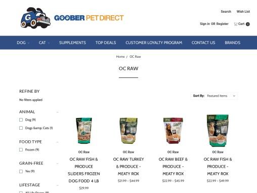 OC Raw Dog Food Products – Goober Pet Direct