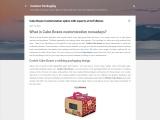 Cake Boxes Customization option with experts at GoToBoxes