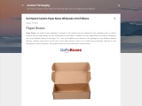 Get Special Custom Paper Boxes Wholesale at GoToBoxes