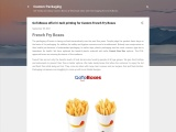 GoToBoxes offer hi-tech printing for Custom French Fry Boxes