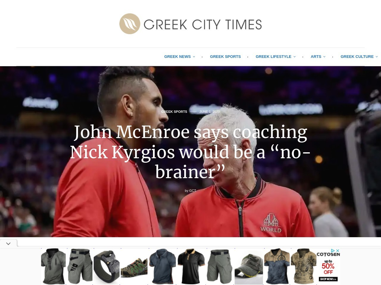 "John McEnroe says coaching Nick Kyrgios would be a ""no-brainer"""