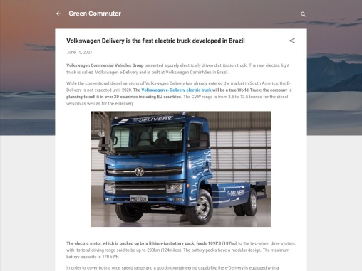 Volkswagen Trucks and Buses begin mass production of electric trucks