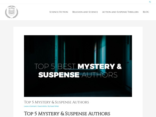 Top 5 Mystery & Suspense Authors by Greg Van Arsdale