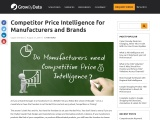 Competitor Price Intelligence for Manufacturers and Brands
