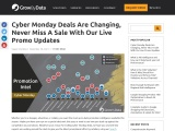 Cyber Monday Deals – Google Shopping Promotion Insights