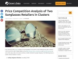 Price Competition Analysis of Two Sunglasses Retailers in Clusters