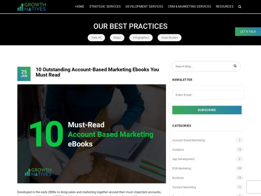 10 Outstanding Account-Based Marketing eBooks You Must Read 10 Outstanding Account-based Marketing