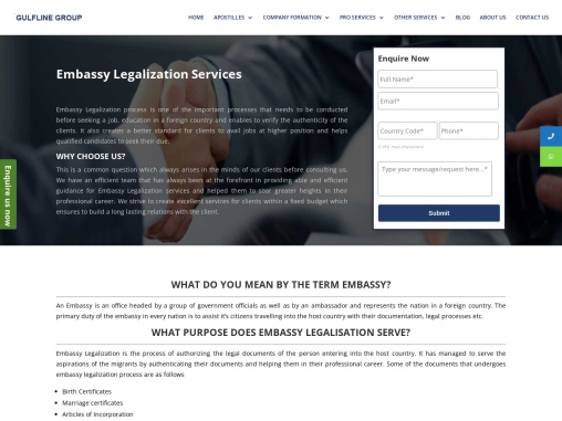 Embassy Legalization Services From UK