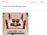 Themes for Novelty Birthday Cakes