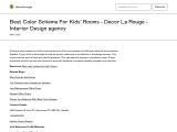 Design Your Kids Room With Best Color Scheme – Decor La Rouge – Interior Design Agency
