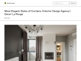 Decorate Your Home With Elegant Styles Of Curtains | Interior Design Agency – Decor La Rouge