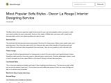 10 Most Popular Sofa Styles – Decor La Rouge – Interior Design Service