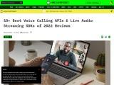 Best Voice Calling API and SDK