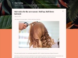 Hair styles for the new season : Half up Half down hairstyle
