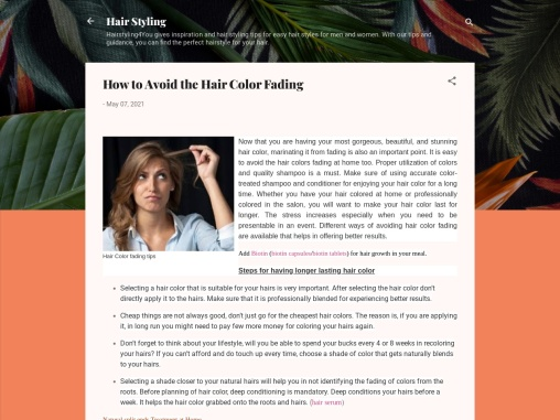 How to Avoid the Hair Color Fading