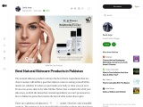Best Natural SKINCARE Products in Pakistan