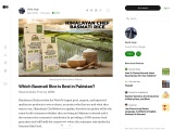 Which Basmati Rice is Best in Pakistan?