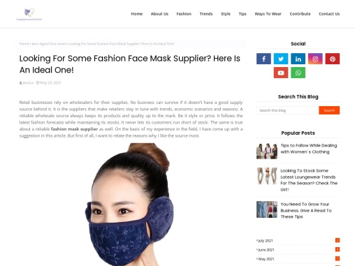 3D Face Mask – Best Quality Face Mask For Ladies!