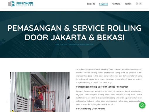 Pemasangan & Service Rolling Door Jakarta & Bekasi