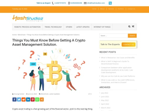 Blockchain Application Development Based on Crypto