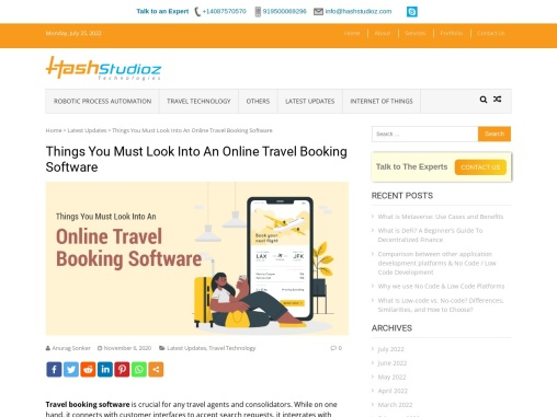 Things You Must Look Into An Online Travel Booking Software