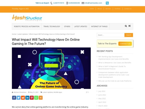 What Impact Will Technology Have On Online Gaming In The Future?