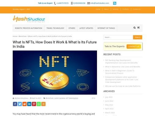 What Is NFTs, How Does It Work & What Is Its Future In India