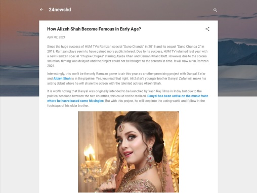 How Alizeh Shah Become Famous in Early Age?