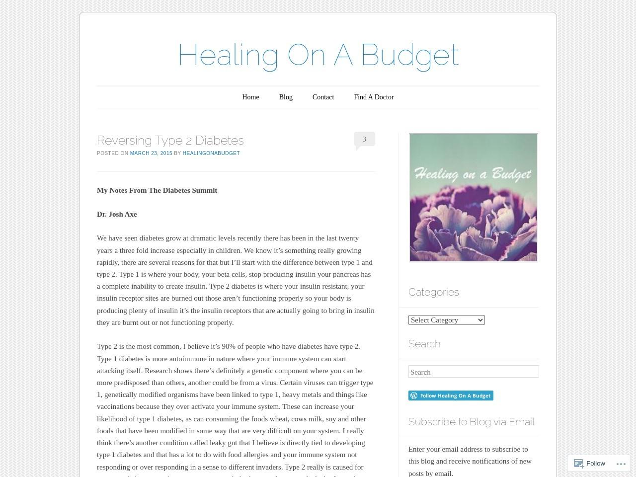 Reversing Type 2 Diabetes | Healing On A Budget