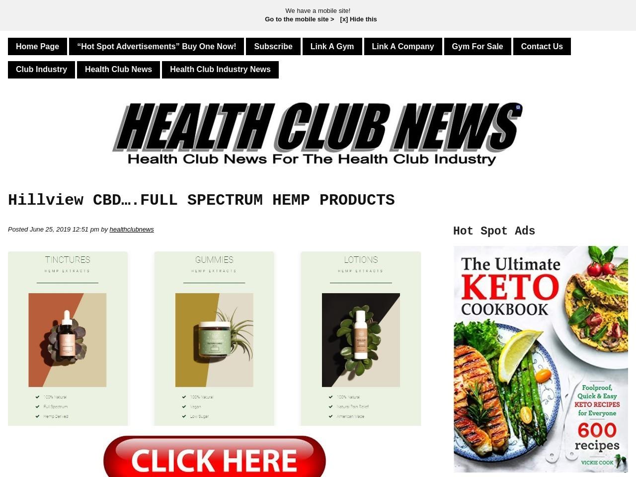 Hillview CBD….FULL SPECTRUM HEMP PRODUCTS