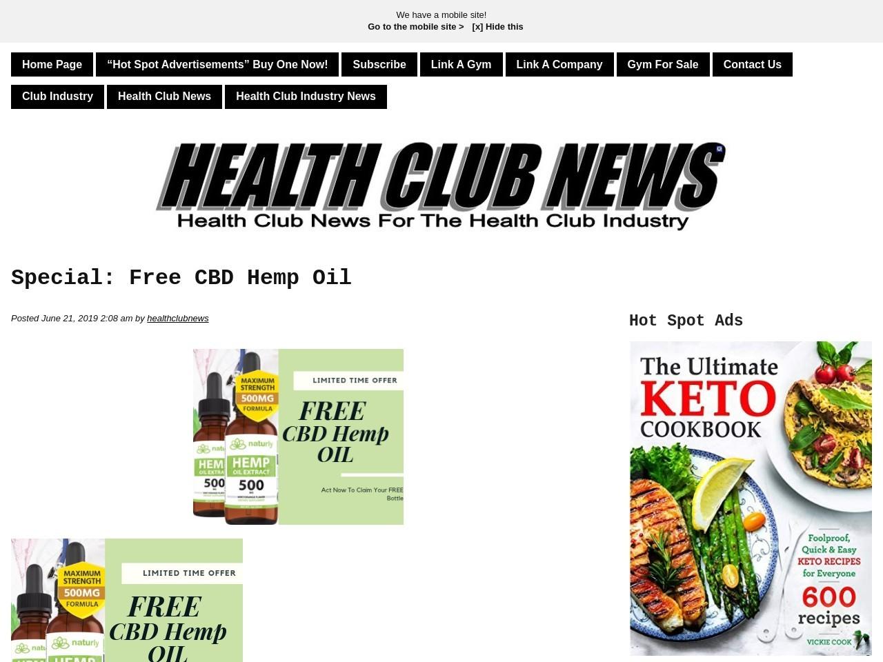 Special: Free CBD Hemp Oil