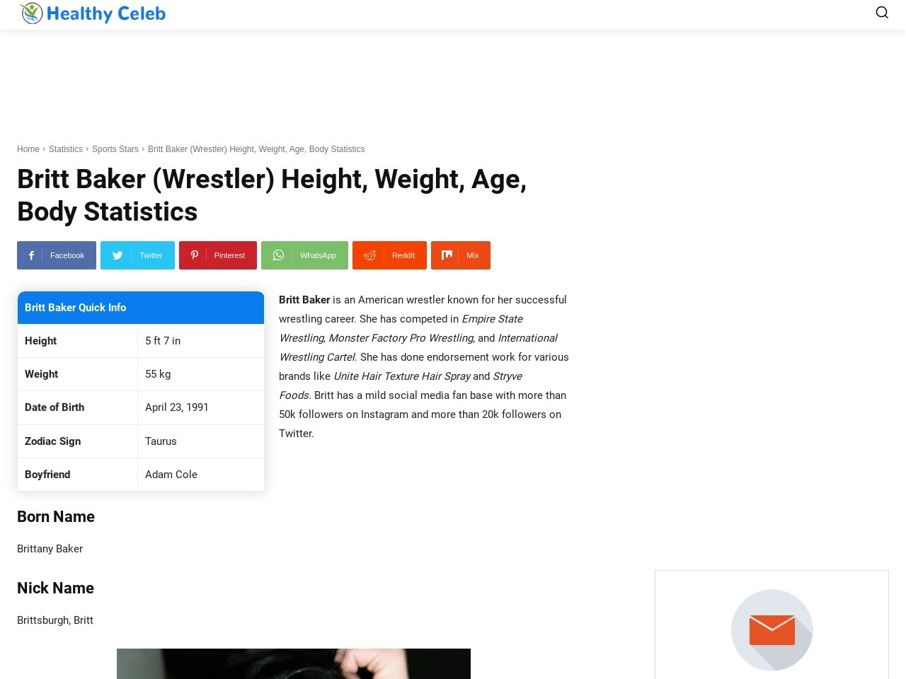 Britt Baker (Wrestler) Peak, Weight, Age, Body Statistics