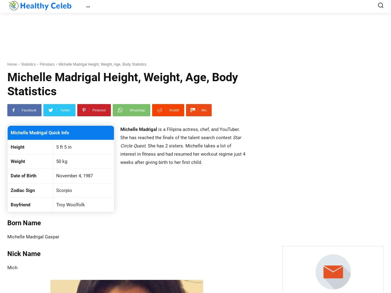 Michelle Madrigal Peak, Weight, Age, Body Statistics