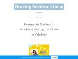Hearing Aid Machine in Velachery | Hearing Aid Centre in Velachery