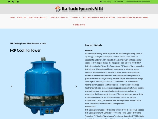 Frp Cooling Tower Manufacturers India