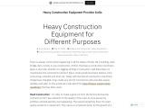 Best Heavy Construction Equipments
